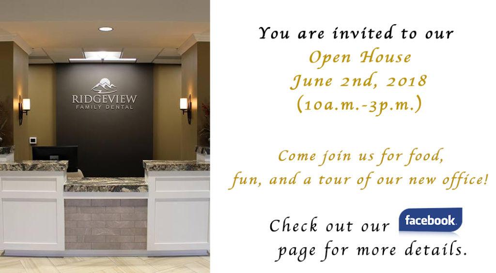 Open House June 2nd, 2018 | Ridgeview Family Dental